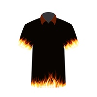 Black T-shirt with the Image of Fire. Vector Illustration. EPS10. Black T-shirt with the Image of Fire. Vector Illustration.