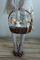 Halloween witch pick up basket with treats