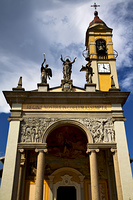 in cairate varese italy wall terrace church watch bell clock tower