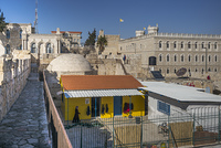 View of the wall promenade surrounding the Old City, Jerusalem, Israel