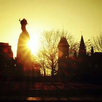 Sunset on Canadian War Memorial, Ottawa Canada
