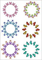 Round framework with butterflies