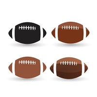 Football ball set isolated on a white background.