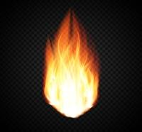 Burning Fire Special Light Effect on Transparent Background. Vector Illustration EPS10