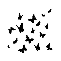 Beautifil Butterfly Silhouette Isolated on White Background Vector Illustration EPS10. Beautifil Butterfly Silhouette Isolated on White Background Vect