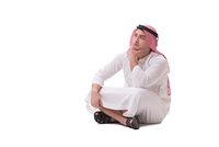 Arab businessman isolated on white background