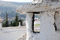 Whitewashed building exterior in Alpujarras, Capileira, Granada, Andalusia, Spain,