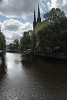 Church on canal, Amsterdam, Holland