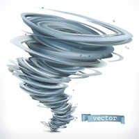 Tornado. 3d vector icon