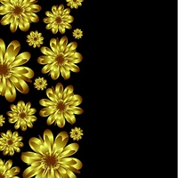 Golden floral banner design with room for your copy