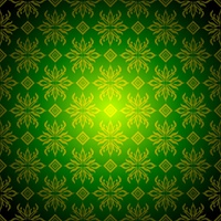Green and golden wallpaper background with seamless design