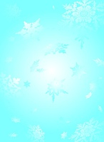subtle snowflake background in light cyan and white ideal to place text over