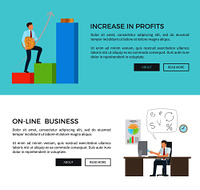 Increase in profits, man and coins with graphic, online business, make with computer and clock, text and buttons vector illustration. Increase in Profits, Online Vector Illustration