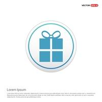Christmas Gift Box Icon - white circle button