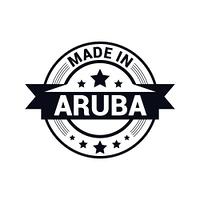 Aruba stamp design vector