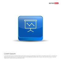 Business graph icon - 3d Blue Button.