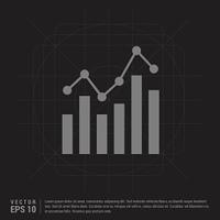 Business graph icon - Black Creative Background - Free vector icon
