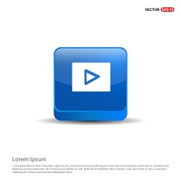 Play Icon - 3d Blue Button.