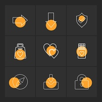 right, down,  sheild, heart,  download,  unlock,  weight,  icon, vector, design,  flat,  collection, style, creative,  icons