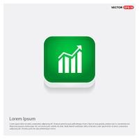 Business graph iconGreen Web Button - Free vector icon