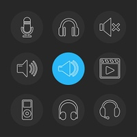 multimedia,  speaker,  volume,  headset,  microphone,  network,  pause,  usb,  flash,  wifi,  internet,  video,  audio,  mobile,  call,  icon, vector, design,  flat,  collection, style, creative,  icons