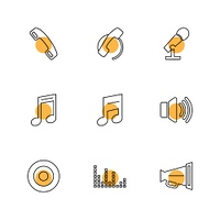 multimedia,  speaker,  call,  headset,  microphone,  network,  phone,  music, audio,  icon, vector, design,  flat,  collection, style, creative,  icons