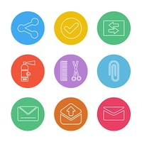 user interface,  application icons,  messages,  books,  icon, vector, design,  flat,  collection, style, creative,  icons,  download,  upload,  printer,  menu,  percentage,  email,