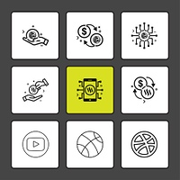 youtube, dribble,  basketball,  Nexus,  nxs,  crypto,  currency,  crypto cuurency,  money,  exchange,  coin,  dollar,  graph,  icon, vector, design,  flat,  collection, style, creative,  icons