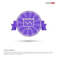 Business graph icon - Purple Ribbon banner