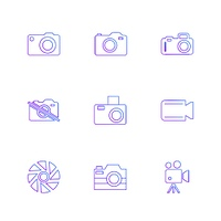 Camera,   recorder,  capture,  click,  photography,  photograph,  image,  tv,  video,  microphone,  speaker,  icon, vector, design,  flat,  collection, style, creative,  icons