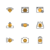 battery,  wifi,  network,  infrared,  signals,  web,  user interface,  usb,  battery cells,  mobile,  uploading,  downloading,  internet,  icon, vector, design,  flat,  collection, style, creative,  icons