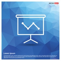 Business graph icon - Free vector icon
