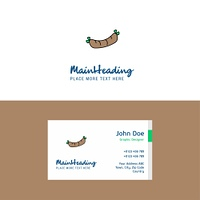 Flat Hot dog Logo and Visiting Card Template. Busienss Concept Logo Design