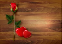 Happy Valentine's Day background. Roses with two hearts. Vector.