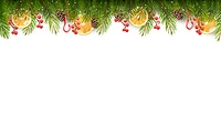 Holiday background with christmas tree branches. Vector.
