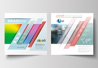 Business templates for square design brochure, magazine, flyer, booklet or annual report. Leaflet cover, flat layout. Abstract triangles, blue triangular background, colorful polygonal vector.. Business templates for square design brochure, magazine, flye