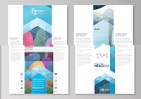 Blog graphic business templates. Page website design template, flat style vector layout. Colorful pattern with overlapping shapes forming abstract beautiful background.. Blog graphic business templates. Page website design template, easy editable abstract