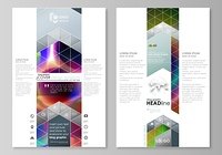 Blog graphic business templates. Page website template, easy editable flat layout, vector illustration. Colorful design background with abstract shapes, bright cell backdrop.. Blog graphic business templates. Page website design template, easy editable ab