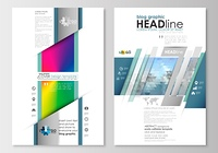 Blog graphic business templates. Page website design template, easy editable, flat layout. Abstract triangles, blue triangular background, modern colorful polygonal vector.. Blog graphic business templates. Page website design template, easy editable, abs