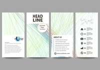 Flyers set, modern banners. Business templates. Cover template, easy editable layouts, vector illustration. Colorful background with abstract waves, lines. Bright color curves. Motion design.. Flyers set, modern banners. Business templates. Cover template