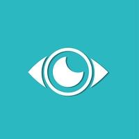 Eye icon, modern minimal flat design style