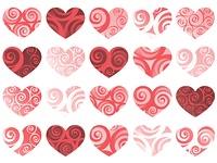hearts isolated pattern. vector holiday valentine