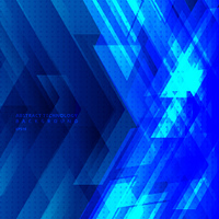 Abstract blue tech diagonal geometric background with big arrows sign digital and stripes technology concept. Space for your text. Vector illustration