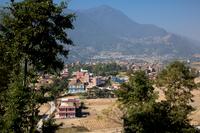 ブングマティ村の遠景
