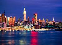 ニュージャージーよりミッドタウン夜景