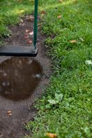 雨上がりの公園(ブランコと水たまり)