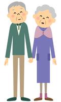 シニア夫婦 おじいちゃんおばあちゃん