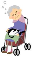 シニア おばあちゃんと猫 シルバーカー