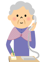 シニア おばあちゃん 電話