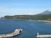 知床半島の風景 ウトロ港